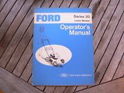 Ford Tractor Series 20 Lawn Mower Owner Operator Manual Guide Book Set Up