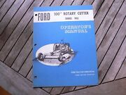 """Ford Tractor 100"""" Rotary Cutter 902 Owner Operator Manual Guide Book Set Up"""
