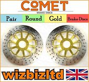 Comet Gold Round Front Brakes Disc Honda Rs125 Radial Caliper 2004-2007 R916gd