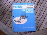 Ford Tractor Series 944 Rotary Cutter Owners Operators Manual Guide Book Set Up