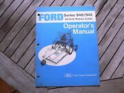 """Ford Tractor 940 942 60"""" 72"""" Rotary Cutter Owners Operators Manual Guide Book"""