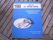 """Ford Tractor 908 60"""" Rotary Cutter Owners Operators Manual Guide Book Setting Up"""