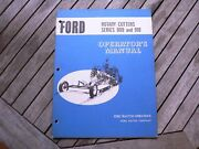 Ford Tractor 909 910 Rotary Cutter Owners Operators Manual Guide Book Setting Up