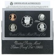 1992 S Proof Set Original Box And Coa 5 Coins 90 Silver Quarters Kennedy Us Mint