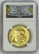 2013 Gold 1oz 50 American Buffalo Coin Ngc Mint State 70 Early Releases