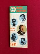 1971, Miami Dolphins, Media Guide Scarce / Vintage Shula / Griese
