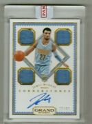 Jamal Murray Rc 2016-17 Grand Reserve Rookie Quad Jersey Auto Nuggets 22/99