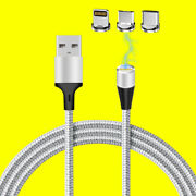 Magnetic Adsorption Rotary Interface Charging Cable For Motorola Edge+ Verizon