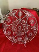 Anchor Hocking Fire King Star Of David Eapc 5 Part Large Divided Plate / Tray