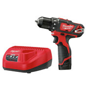 Milwaukee M12 3/8 In. Drill Driver Kit 1.5 Ah 2407-81 Certified Refurbished