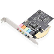 Pcie Sound Card 5.1 Internal 3d Stereo Pci-e Audio Cards For Home Pc