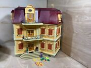 Playmobil Geobra 5302 Large Grand Mansion Dollhouse Doll House Nearly Complete