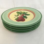 Villeroy And Boch 1748 French Noel Portugal Holly Pear Dessert Salad Plates 4
