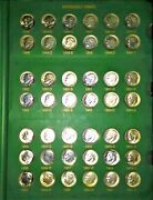 1946-2002 Roosevelt Dime Coin Collection Set Including Proof Only Issues And Bu