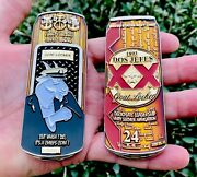 Dos Equis Jefes Amber Beer Can Navy Cpo Chief Mess Bar Challenge Coin Seals Nypd