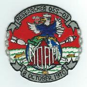 70and039s Noaa Ship Researcher Oss-03 Patch