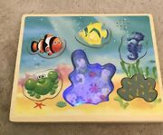 Melissa And Doug Wood Board Puzzle - Flash And Sound - Treasurer Of The Sea
