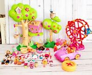 Mini Lalaloopsy Treehouse, Ferris Wheel, Rc Convertible And Silly Pet Parade Train