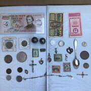 Junk Drawer Silverjewelry Coins And Collectibles Lot