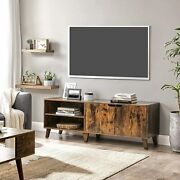 Retro Tv Stand Cabinet Tv Console Tv Table With 2 Doors Adjustable Shelves