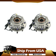 2pcs Timken Front Wheel Bearing And Hub Assembly For Ford 2011-2016 Wn