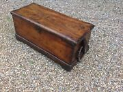 Antique Camphor Wood Sea Chest Sailorslow Table With Original Rope Handles