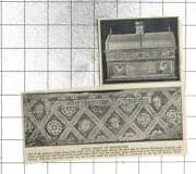 1933 Old Mortuary Chests Dating 1525 Cleaned At Winchester Cathedral