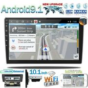 10.1and039and039 Car Radio 2 Din Android 9.1 Gps Stereo Navi Wifi Mp5 Player Quad Core Us