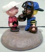 Danbury Mint Peanuts Classic Moment Charlie Brown And Schroeder Baseball Figurine