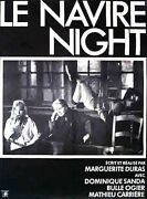 Poster Folded 47 3/16x63in The Ship Night 1978 Marguerite Duras - Bubble Ogier