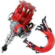 289-302 Red Small Cap Hei Distributor 8mm Spark Plug Wires Fits Small Block Ford