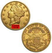 Random Year - 20 Gold Double Eagle Liberty Coin Au Or Better - Free Shipping