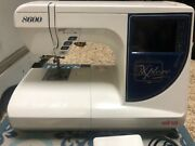 Elna 8600 Xplore Sewing/embroidery Machine With Foot Pedal And Hoops