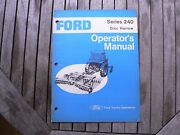 Ford Tractor 240 Disc Harrow Owner Operator Manual Instruction Guide Book Set Up