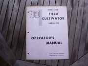 Ford Tractor 208 Field Cultivator Owner Operator Manual Instruction Guide Book