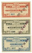 Nj-turnpike Toll Script .. 5-25 Cents .. 1955 .. Au Stamped Deft Of The Army