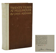 Twenty Years At Hull-house Jane Addams Signed Limited First Edition 1910 1st