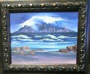 Edelweiss Diedericks Oil On Board Snow Mountain Lake Landscape Painting