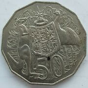 Old Coin Australian 50 Cents 1981 Coat Of Arms