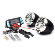 12v Motorcycle Audio Fm Radio Mp3 Ipod Player Stereo Speakers System Bluetooth