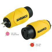 Marinco S15-30 Straight Adapter 15amp Male To 30amp Locking Female Connector