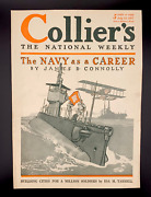 Best Ww1 Submarine Cover Ever On 1917 Collierand039s Magazine Cover By Herbert Paus