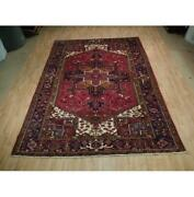 8x11 Authentic Hand Knotted Semi-antique Wool Rug Red B-73164