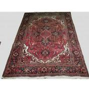 7x11 Authentic Hand-knotted Semi-antique Wool Rug Red B-74989