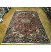 8x11 Authentic Hand Knotted Semi-antique Rug Pix-23706