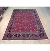 8x11 Authentic Hand Knotted Semi-antique Rug B-71964