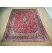 10x13 Authentic Hand Knotted Semi-antique Wool Rug Red B-72885