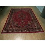 10x13 Authentic Hand Knotted Semi-antique Wool Rug Red B-73106