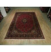 8x12 Authentic Hand Knotted Semi-antique Wool Rug Red B-73585