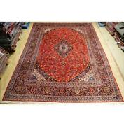 10x14 Authentic Hand Knotted Semi-antique Wool Rug Red B-74562